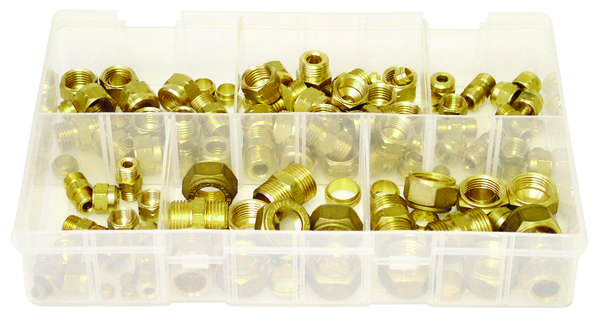A02640 Assorted Boxes / Packs   Brass Tube Couplings Metric