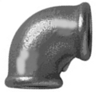 MC/1.5/3 Malleable Iron Fittings Female Equal Elbows 90Deg  Female Equal Elbow 90Deg 1 1/2