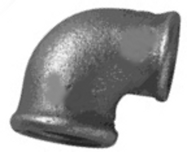 MC/1/5 Malleable Iron Fittings Female Reducing Elbows 90Deg  Female Reducing Elbow 90Deg (F) 1/2