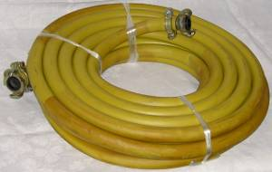 AC/RAH Air Valves, Couplings and Hose   15 Metre Rubber Compressor Hose C/W Couplings