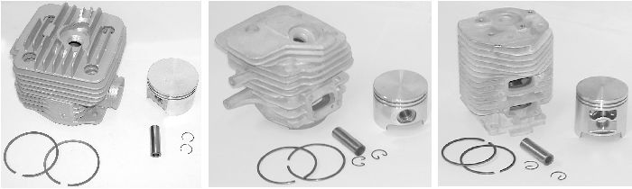 PT0155 Replacement Cylinder and Piston Assemblies  Stihl 08-TS350 Cylinder Assy 47 mm Dia.
